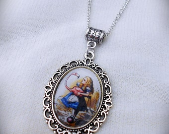 Alice In Wonderland Illustration Necklace