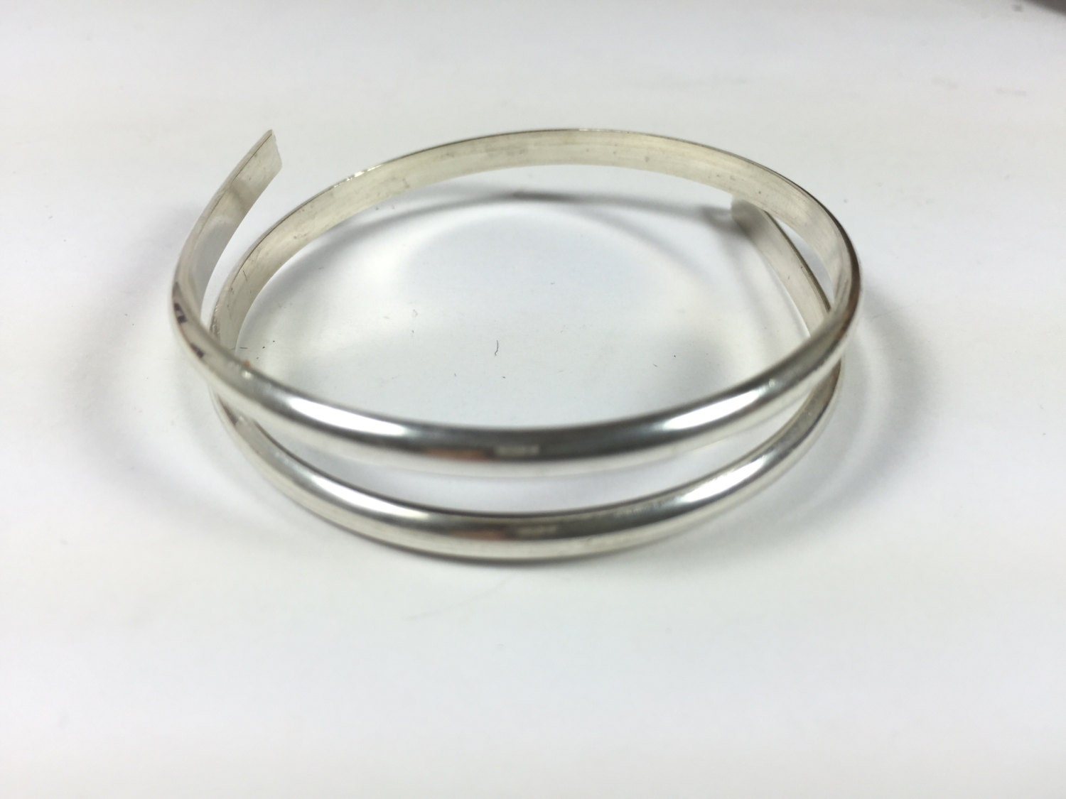 1 foot of 6 gauge half Round sterling silver wire, for cuffs, rings ...