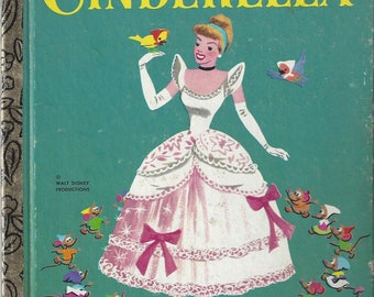 Vintage Walt Disney's Cinderella, Little Golden Book, Children's Book, C1980