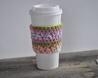 Mothers Day Gift Ideas - Reusable Coffee Cup Sleeve - Crochet Coffee Sleeve - Coffee Cup Cozy - Coffee Sleeve Crochet - Coffee Lovers Gift
