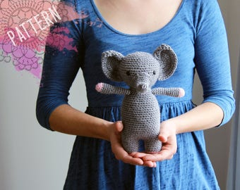 Amigurumi Elephant Crochet Pattern - Elinor the Elephant