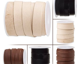12mm genuine flat leather cord, genuine flat leather cord 0.47 inch, genuine flat leather lace 12mm, 12mm lace leather flat cord.