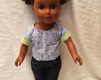 "CANDICE 18"" Doll Outfit 2-PC (Top and Capris)"