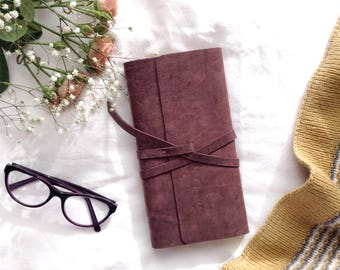 Leather Notebook/ Journal  vintage birds