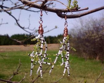 Aspen Branches in Early Spring Beaded Earrings