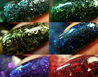 Farewell Winter-Welcome Spring Collection/ Flakies/ Nail Polish Flakies/ Indie Nail Polish