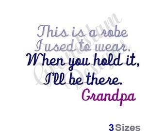 Robe Grandpa - Machine Embroidery Design