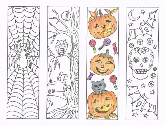 Coloring Bookmarks Halloween coloring bookmarks PDF
