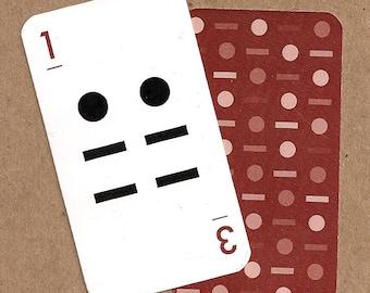 Linear Alphabet Card - 1/3
