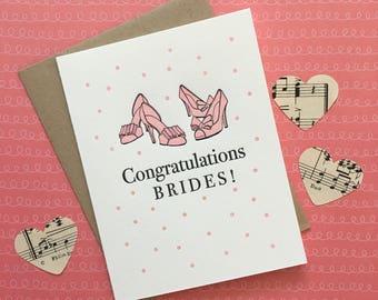 Congrats Brides! Letterpress Card