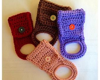 Crochet Elastic Band Kitchen Towel Hanger