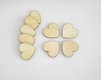 2mm Thick,  40x40mm Plywood Hearts