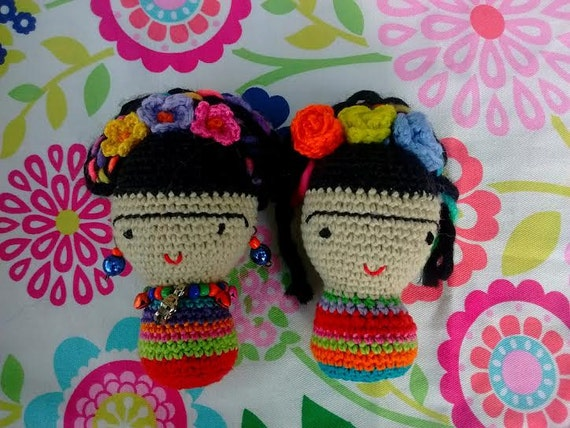 Amigurumi Frida Kahlo : Frida khalo amigurumi amigurumi personalizado u amigurumi duende