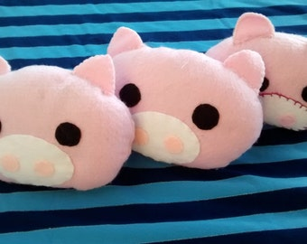 Piggy Plushies with Bendable Tails