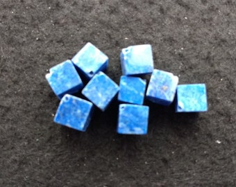 Vintage Lapis Lazuli 7mm Squares