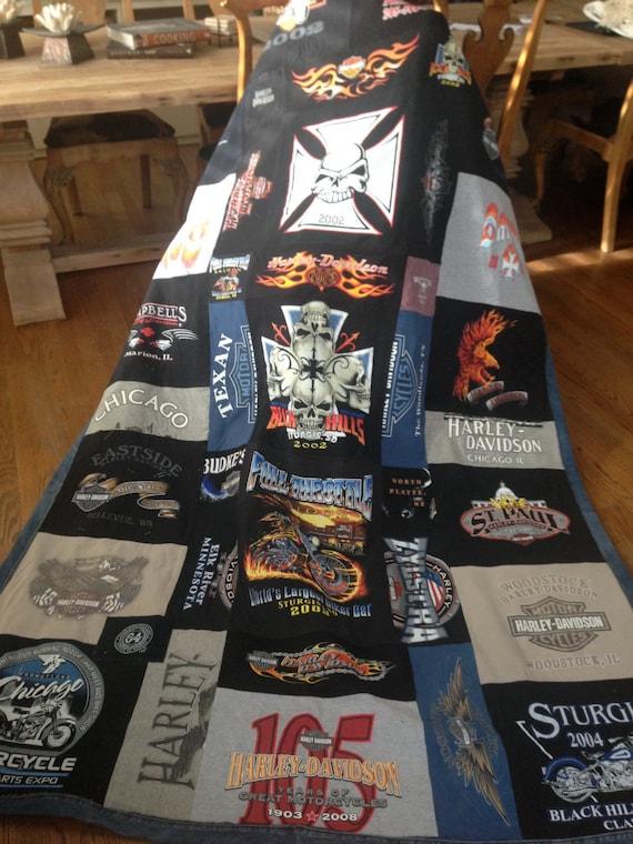 Custom Made  Biker T-Shirt Blanket