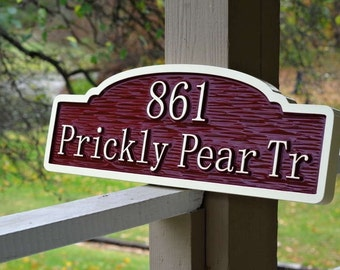 Unique Custom Signs - House Number Signs - Custom Carved Address/Last Name Signs - weatherproof
