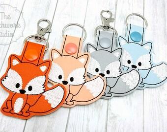 Fox Keychain - Key Fob - Woodland Animal - Pick Your Color!