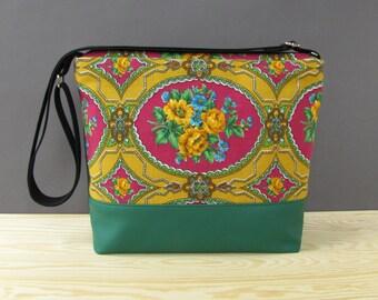 Etno Vegan Messenger Bag | Flowery Crossbody Bag | Recycled Bag | Vegan Bag | Mother's Day Gift | Vintage Bag | Vegan Shoulder Bag