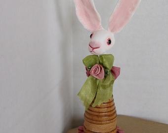 Tiny Bunny Folk Art