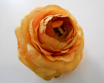 Gold Silk Ranunculus / Crafting Flowers / Artifcial Silk Flowers / Diy Hair Flower / Wedding Flower / Silk Gold Flowers / Floral Supply
