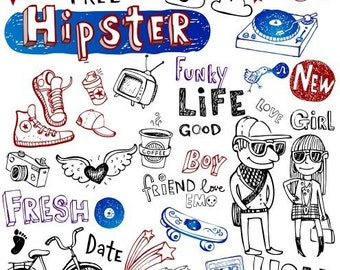 """Hipster Life // Clear stamps pack (4""""x7"""") FLONZ"""