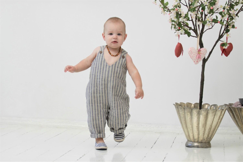 Baby Strampler Baby Leinen Spielanzug Kleinkind Jungen