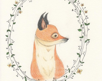 Fox portrait wall art