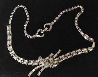 Vintage Kramer Rhinestone Necklace c1950's Elegant