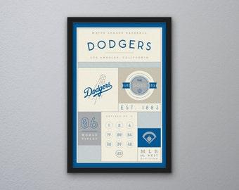 Los Angeles Dodgers Stats Print
