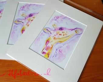 Mounted Fine Art Giclee Print 'You're having a giraffe'