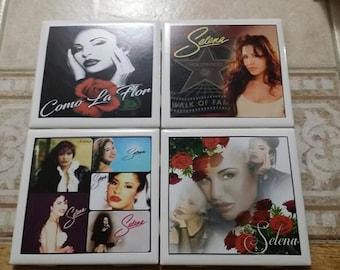 Selena Ceramic Tile Coasters (Set of 4)