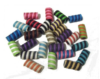 Colorful Cord Beads x 50