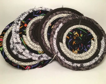 Coasters Trivet Hotpad Clothesline Rope Coiled Fabric