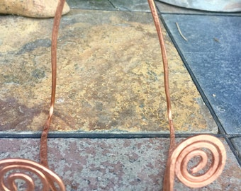 Large hammered copper stand