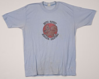 Amy's Vintage Rollerskating Squirrel Tee, USA Made