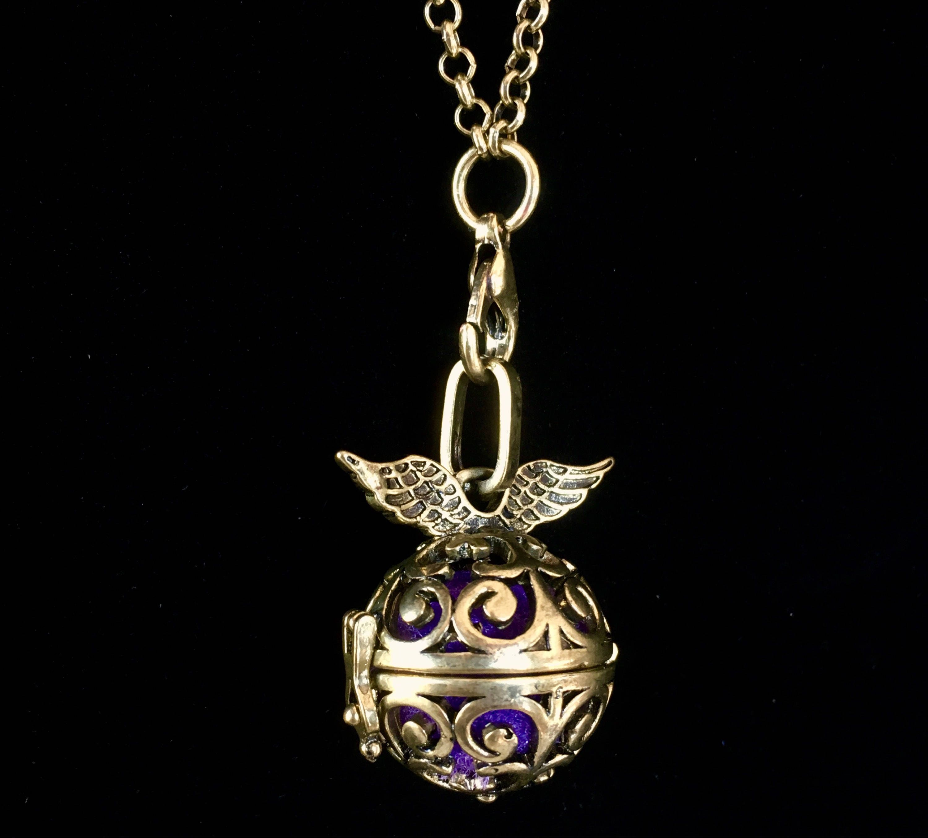 scent inside all you as essential day cotton diffuser necklace the your diffused is locket oils living and small young of pin put a piece drip oil