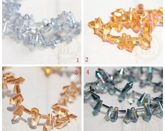 10 Pieces / Chinese Crystal / Glass Crystal / Tear Drop 8*4mm (G41)