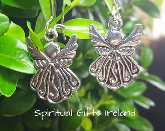 Cute Healing Spiritual Faith Guardian Angel Earrings Dainty Elegant Something Different Hope Beautiful Token Friendship Present Gift