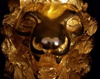 Judith Leiber 18KT Gold Plated Lion Brooch/Pendant