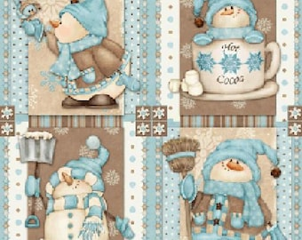 I love snow Square, Fabric Quilting Crafting Home Decor