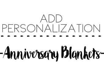 ADD ON to Anniversary Blanket for Baby's Milestones /  personalized blanket / custom baby blanket