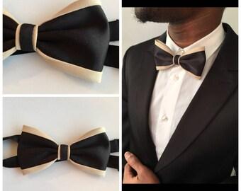 Bow tie black - beige man