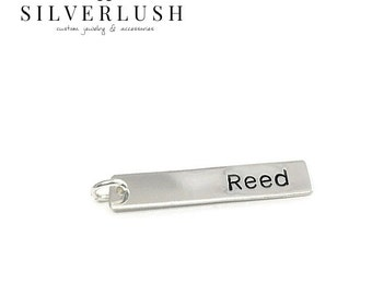 Personalized Sterling Silver Name Bar - Charm Only - Handstamped Jewelry