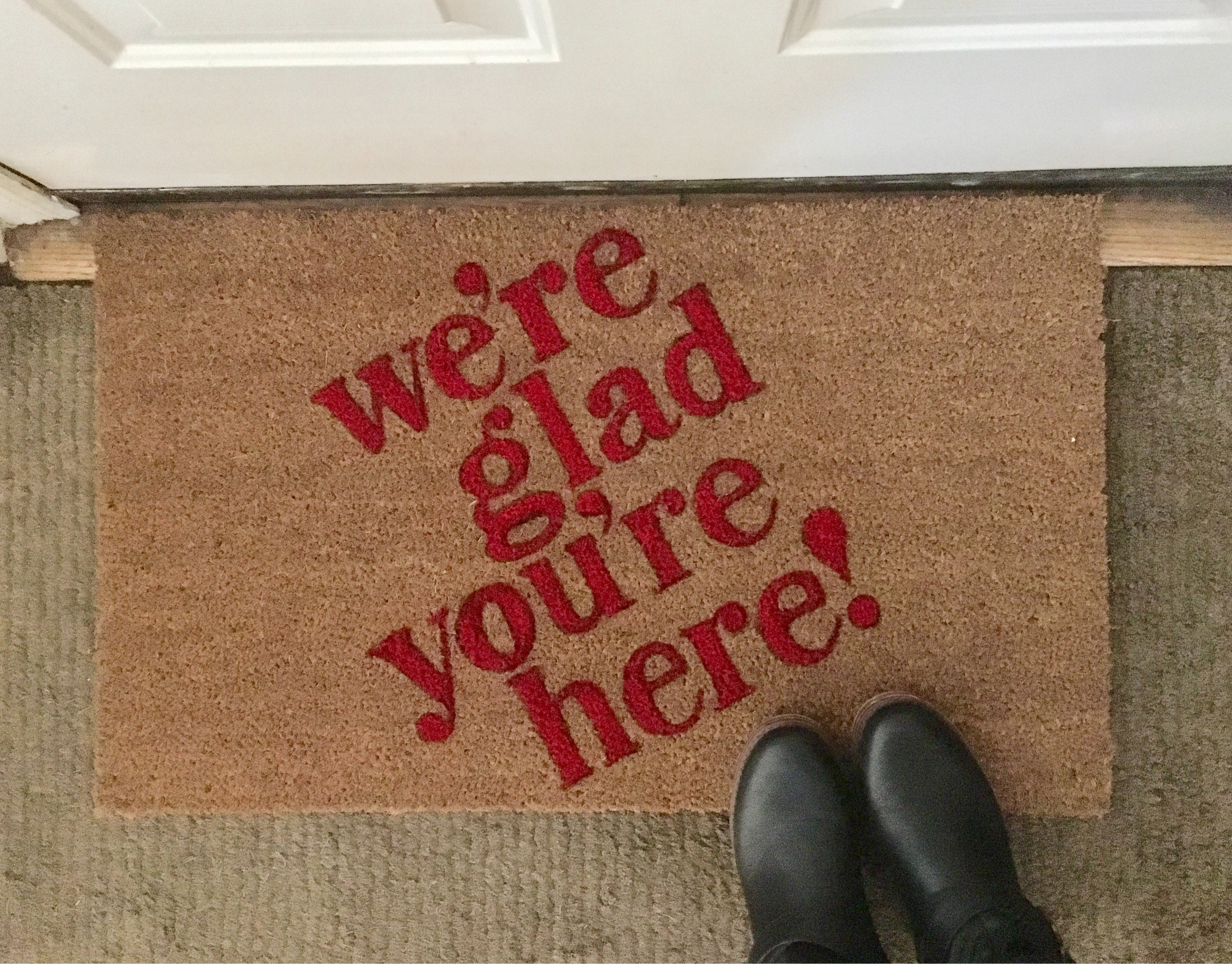 house doormat funny custom is decor pin carl adventure mat out ellie up home there door wilderness disney and mats