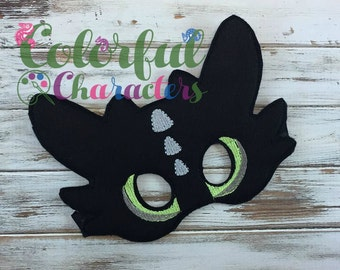 Toothless Dragon mask, party favors, costume masks, halloween, pretend play, dress up, made to order