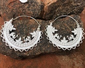 Earrings Birds from India Silver Metal Boho Boheme Gipsy Love Om Lila Indy