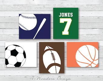 More Colours. Boys Toddlers Teens Sports Wall Art ...