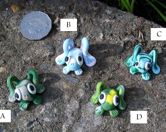 Frogs - Polymer Ornaments (Group 1)
