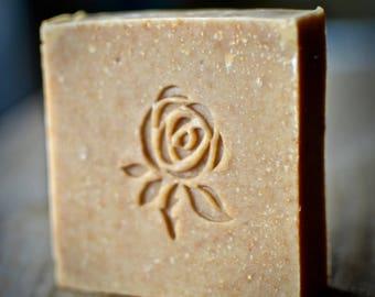 Rose Soap Stamp, Custom Soap Stamp, Acrylic Soap Stamp, Soap for Stamp, Soap Stamp
